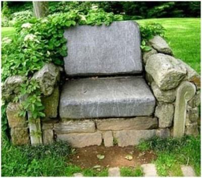 Кресло на основе камня