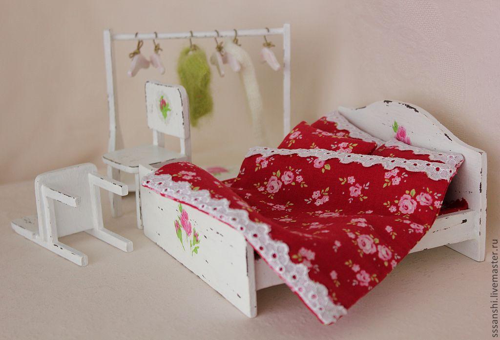 Двуспальные кровати для кукол своими руками