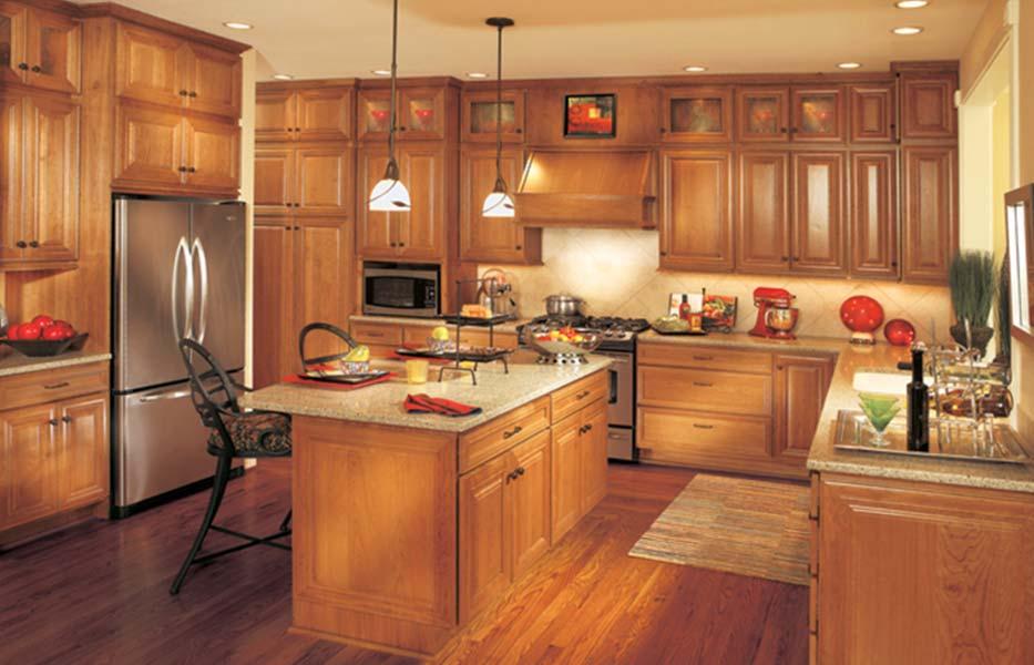 Мебель из дуба в дизайне кухни