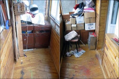 Мебель как хлам на балконе