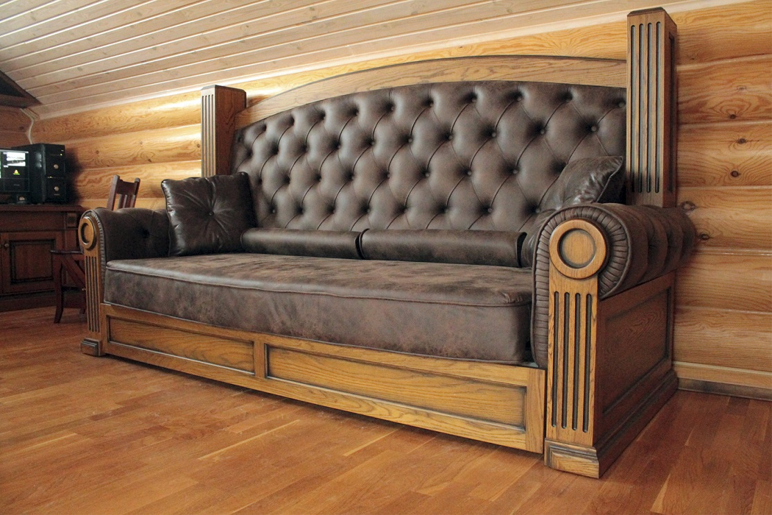 Мягкая дубовая мебель