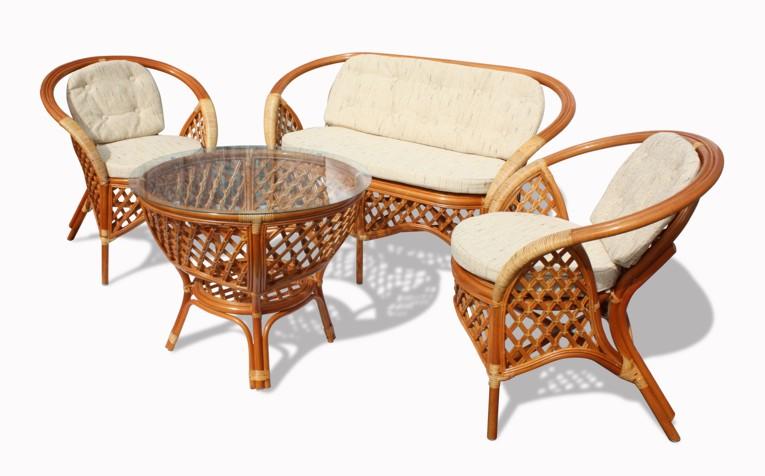 Мягкая плетеная мебель для дома