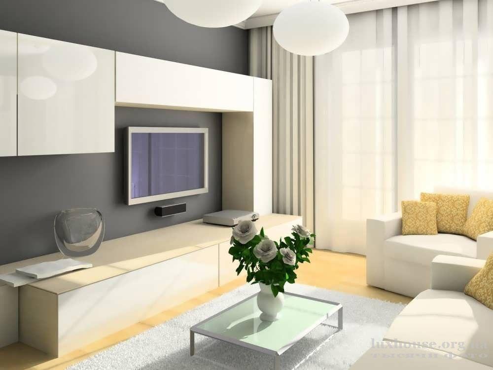 Набор белой мебели для гостиной