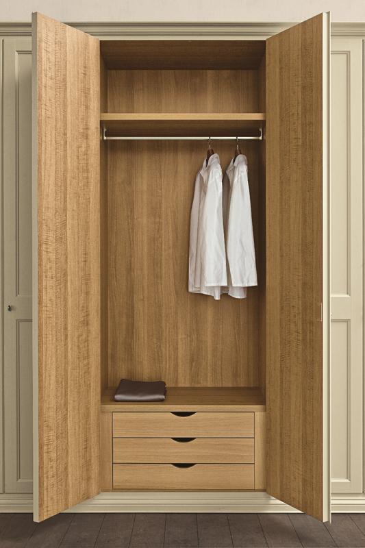 Шкаф для одежды двухстворчатый, плюсы и минусы, оформление ф.