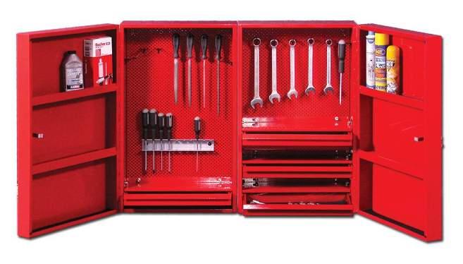 Навесной шкаф для инструментов