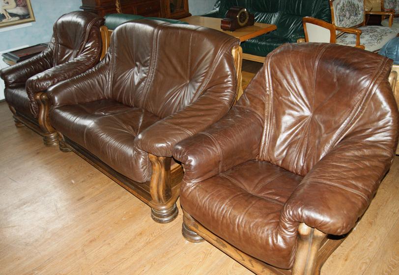 Новая мебель из натуральной кожи