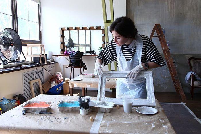 Обработка мебели шпаклевки