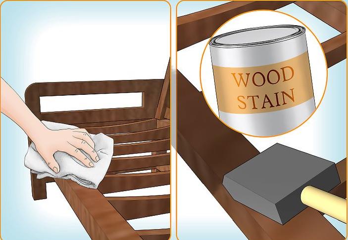 Очистка каркаса современной мебели