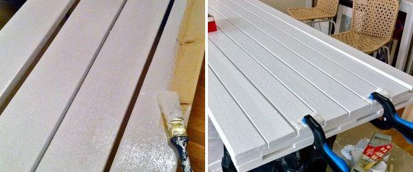 Окраска покрытия столешницы