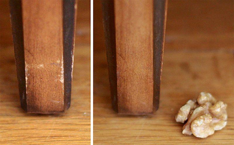 Орех от царапин на покрытии стола