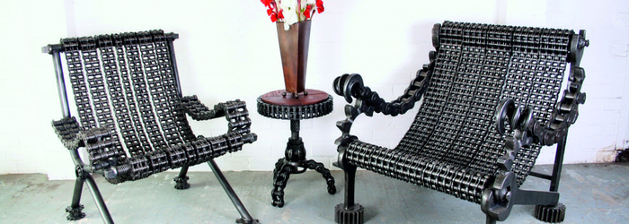 Оригинальные металлические стулья