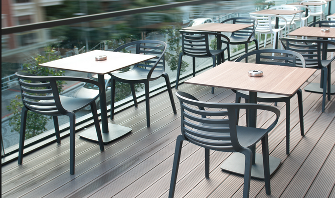 Пластиковые столы и стулья