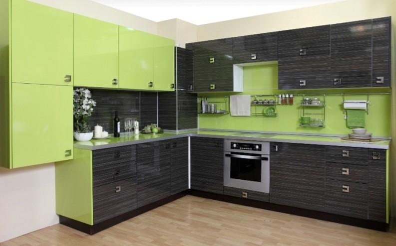 Пластиковые угловые кухни