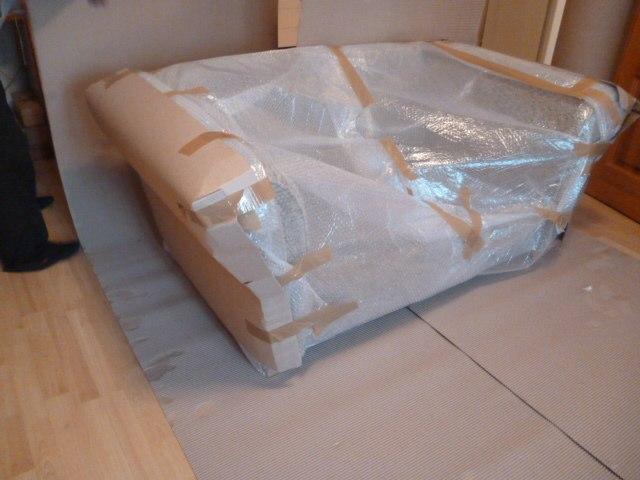 Покрытие дивана специальной пленкой