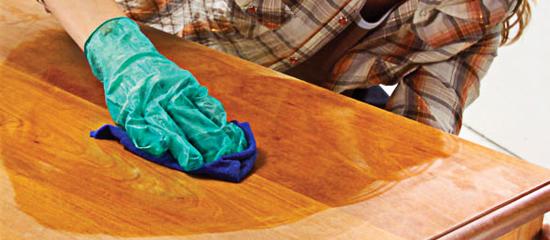 Полируем покрытие корпусной мебели