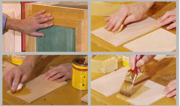 Правила окрашивания мебели