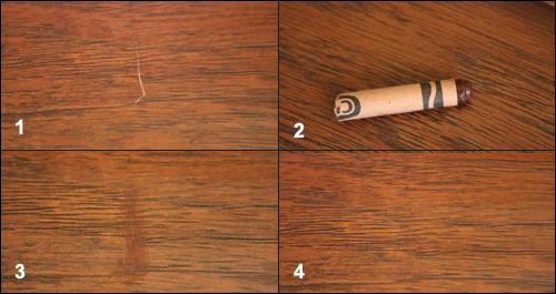 Використання воскового олівця для ламінату