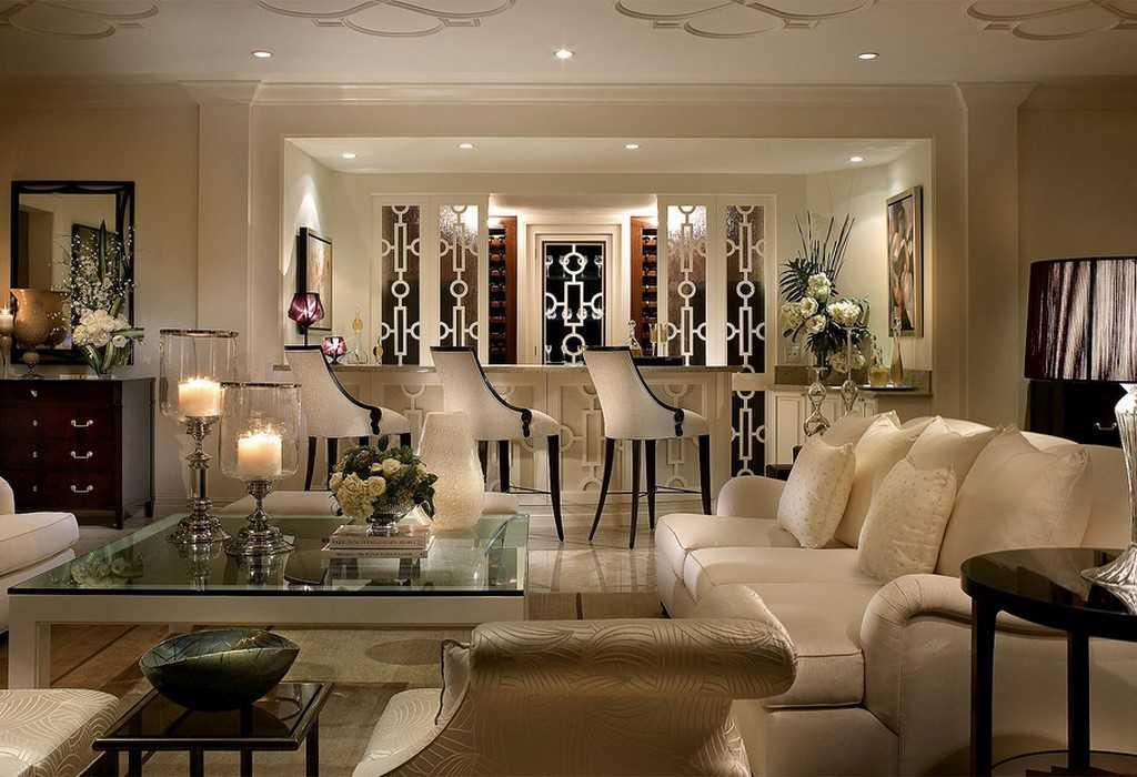 Пример арт-деко стиля в гостиной