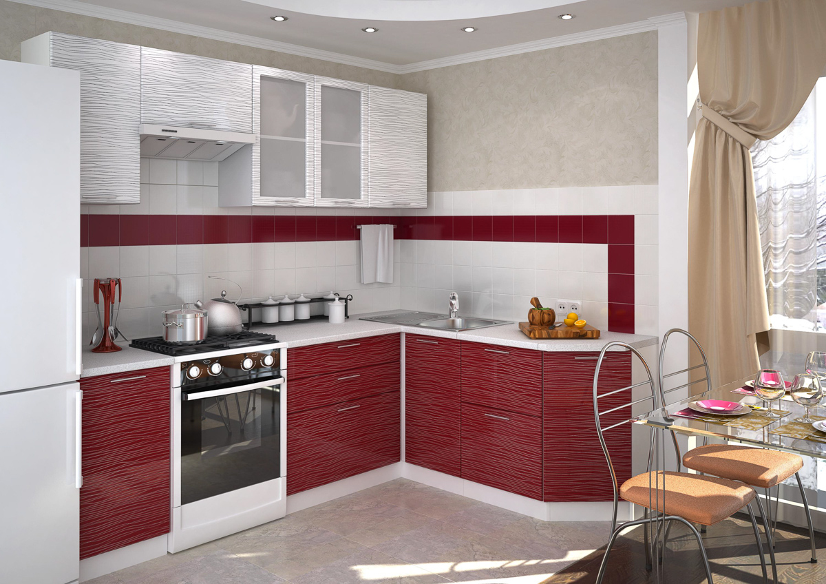 Пример набора корпусной мебели для кухни