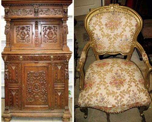 Примеры старинной мебели