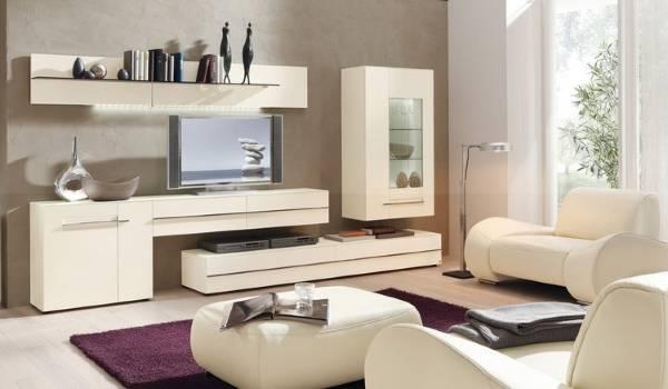 Приятный оттенок белой мебели