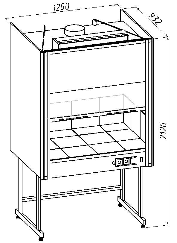 Продувочный шкаф для вытяжной вентиляции
