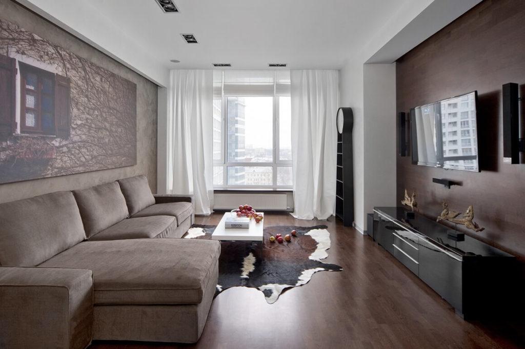 Просторная красивая комната