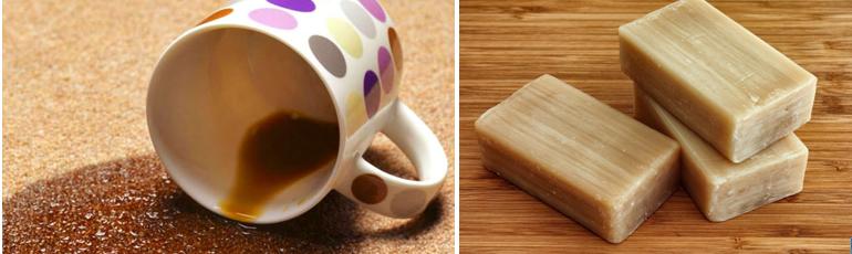 Пятно от кофе на диване