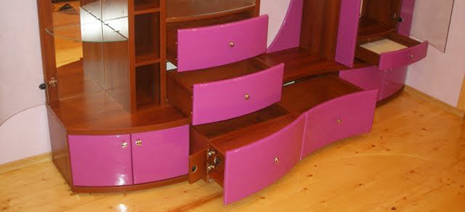 Радиусные типы покрытий мебели