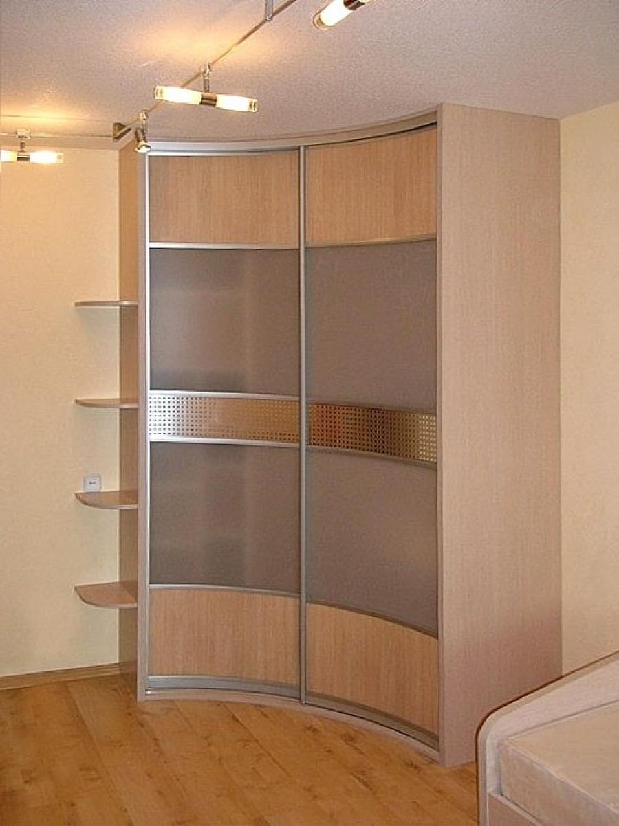 Радиусный маленький шкаф