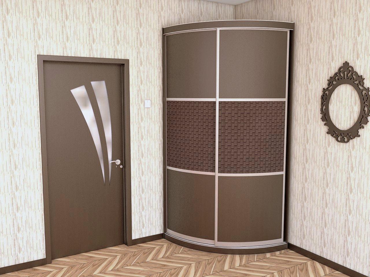 Радиусный шкаф купе угловой, плюсы и минусы, а также наполнение