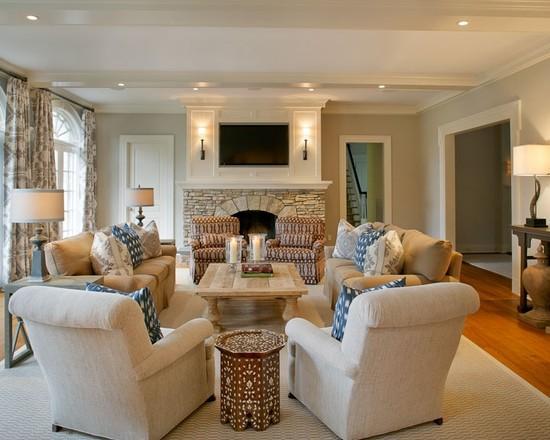 Расположение мебели в комнате кругом
