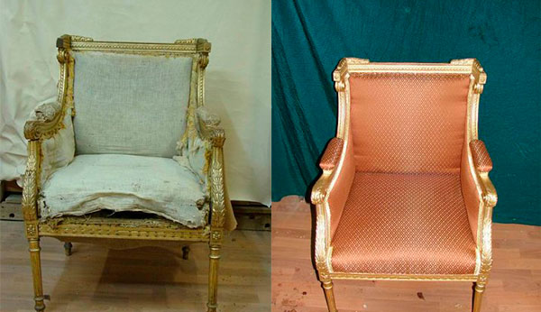 Реставрация сатрой мебели