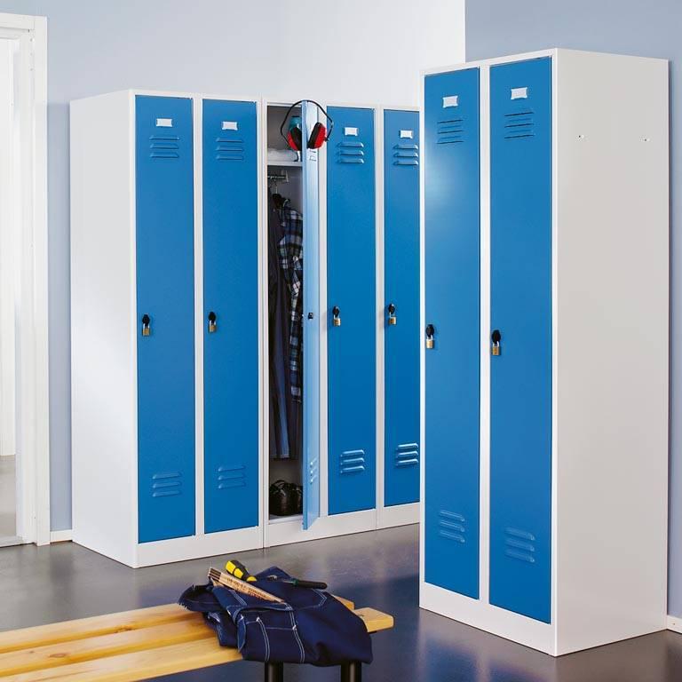 Шкаф 2х секционный металлический для одежды