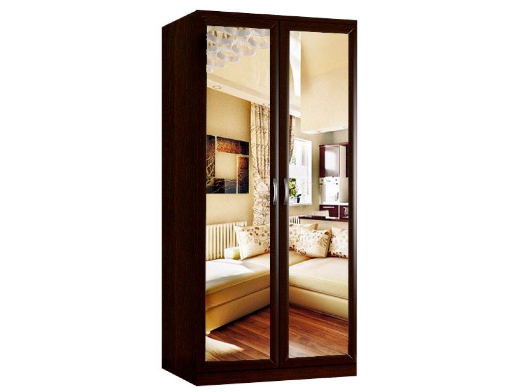 Шкаф для одежды двухдверный с зеркалом
