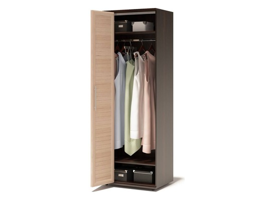 Шкаф для одежды с полками и штангой