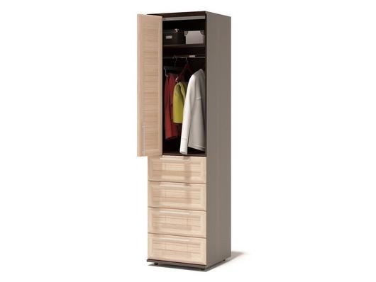 Шкаф для одежды с ящиками и штангой