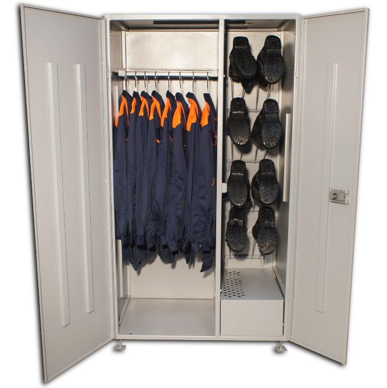 Шкаф для спецодежды на ножках