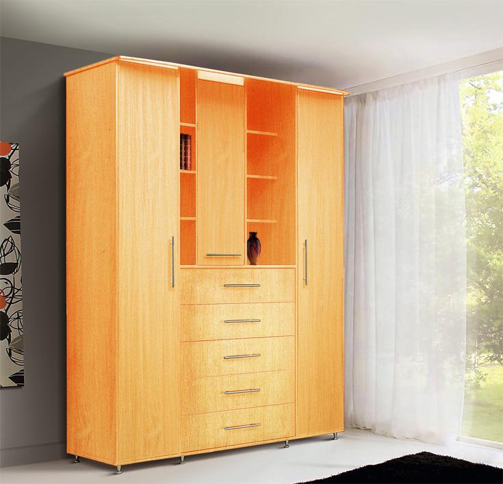 Шкаф комбинированный вишня