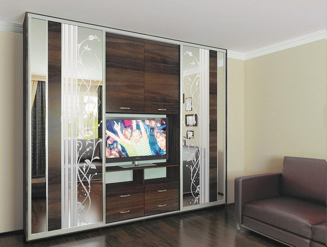 Шкаф купе под телевизор