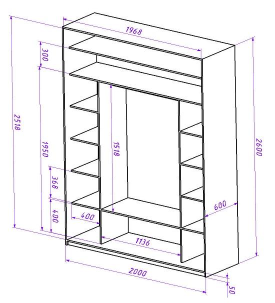 Шкаф-купе проектирование