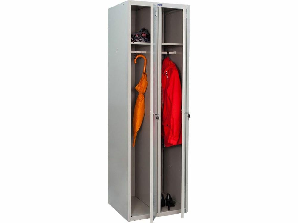 Шкаф металлический для одежды двустворчатый