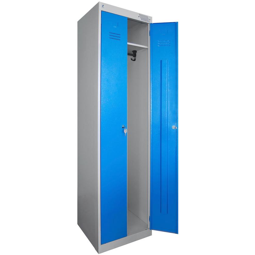 Шкаф с синими дверцами