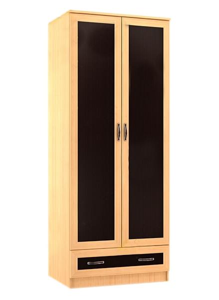 Шкаф с темными вставками