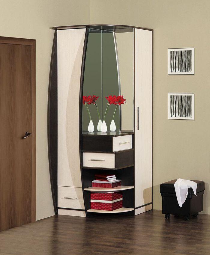 Шкаф с зеркалом в прихожую, какие существуют модели