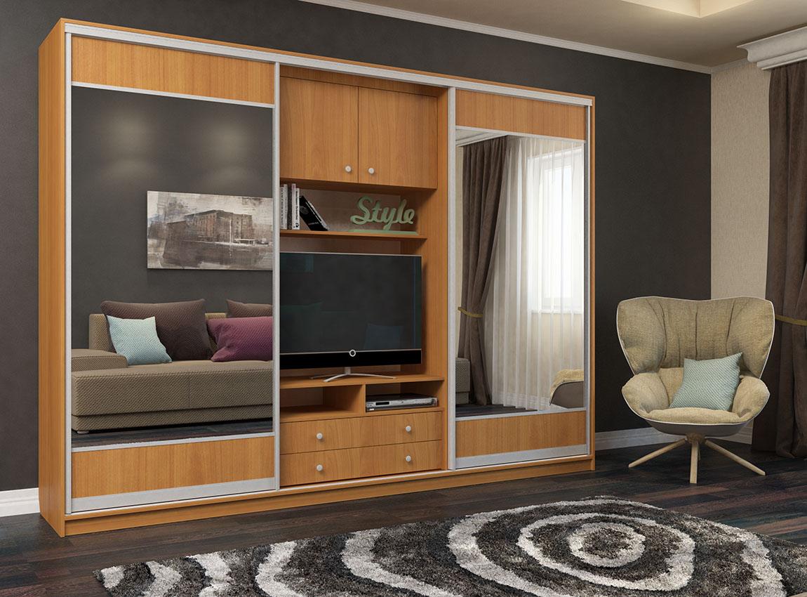 Шкаф со стеклянными фасадами