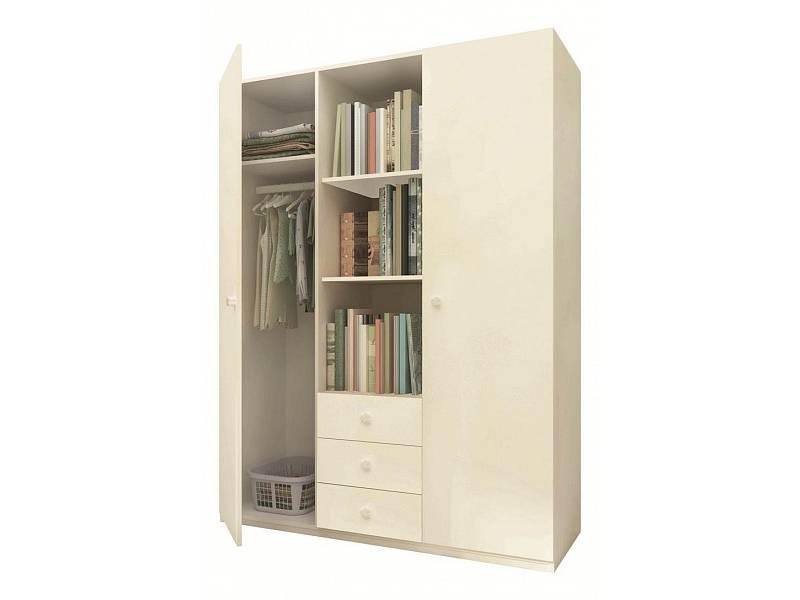 Шкаф светлый комбинированный