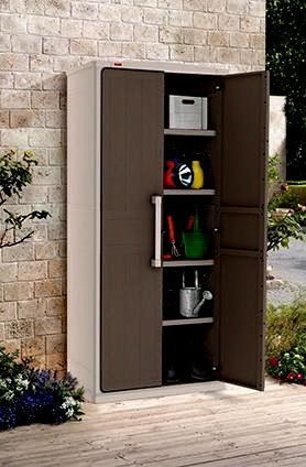 Шкаф уличный во дворе дома