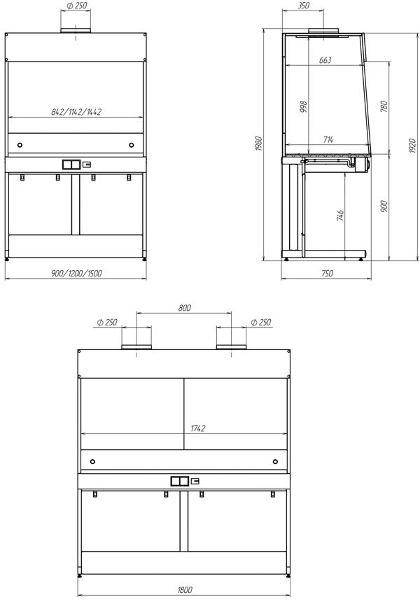 Шкаф вытяжной для муфельных печей
