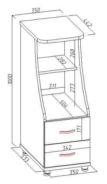 Шкафчик под компьютер